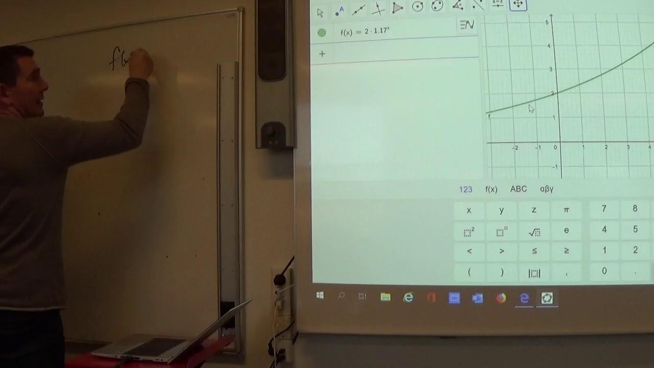 Mat C 2.1b Geogebra Ligning løses grafisk