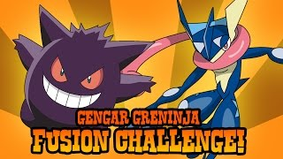 How to Draw Gengar and Greninja Fusion | ART CHALLENGE