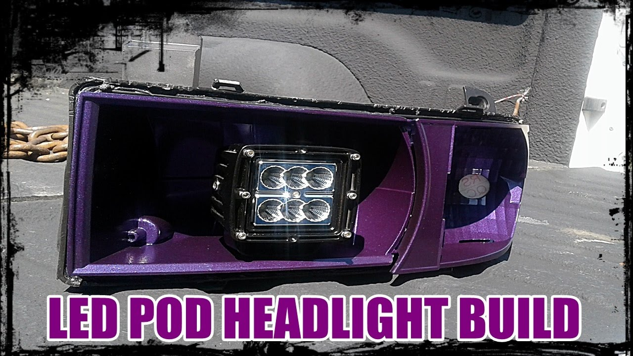 2nd Gen Dodge Ram Custom Halo Led Pod Headlight Build Pt 1