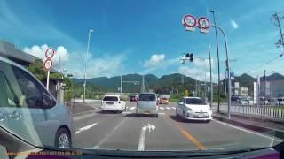 【車載】和歌山県・那智勝浦町・ホテル浦島の駐車場から道の駅なちへ thumbnail