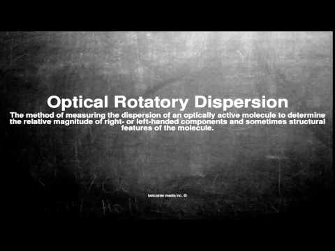Medical vocabulary: What does Optical Rotatory Dispersion mean