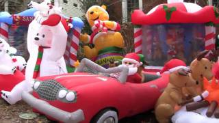 Holiday Inflatamania - One House, Dozens of Inflatables thumbnail