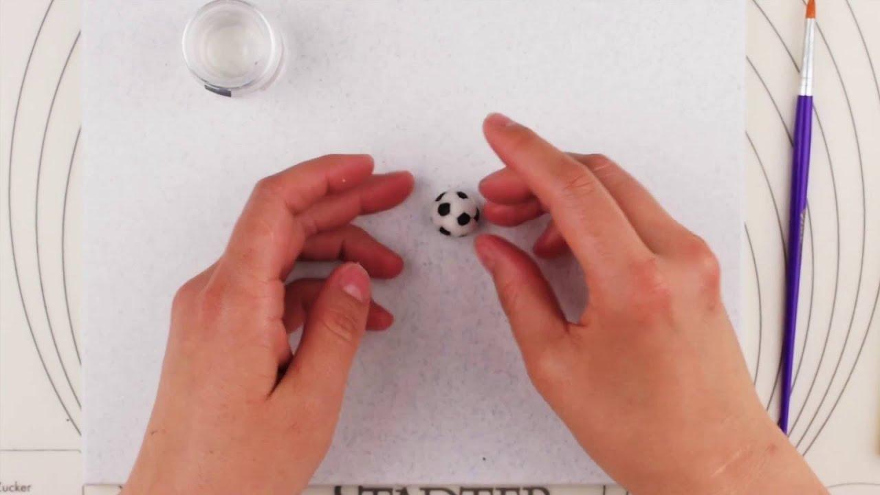 tutorial fussball aus fondant youtube
