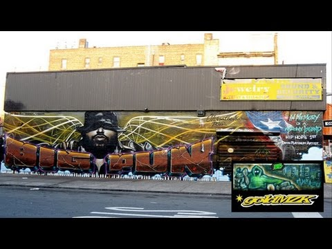 BIG PUN - How We Roll -and wall  R I P graffiti