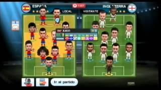 Gameplay online Pro Evolution soccer 2011 wii España Inglaterra
