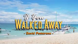 If You Walked Away - David Pomeranz (KARAOKE VERSION)