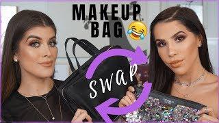 MAKEUP BAG SWAP CHALLENGE! CHISME, FIRST IMPRESSIONS, & FUN | Sophia Perez