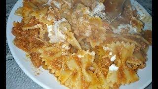 Tomato macaroni with beef