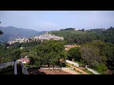 Coonoor city view in the evening and morning from Maple holiday home