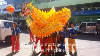 2015 Chinese New Year.  Dragon and Lion Dance in Iloilo City, Philippines