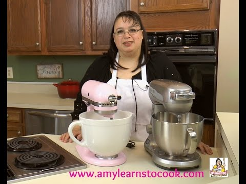 Amy's Stand Mixer Challenge Part II: KitchenAid Artisan 5 Quart vs. Breville Scraper Mixer Pro