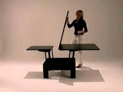 Basic Quadrato Square Coffee table into dining table YouTube