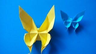 Оригами Бабочка. Origami Butterfly. Model Author Evi Binzinger