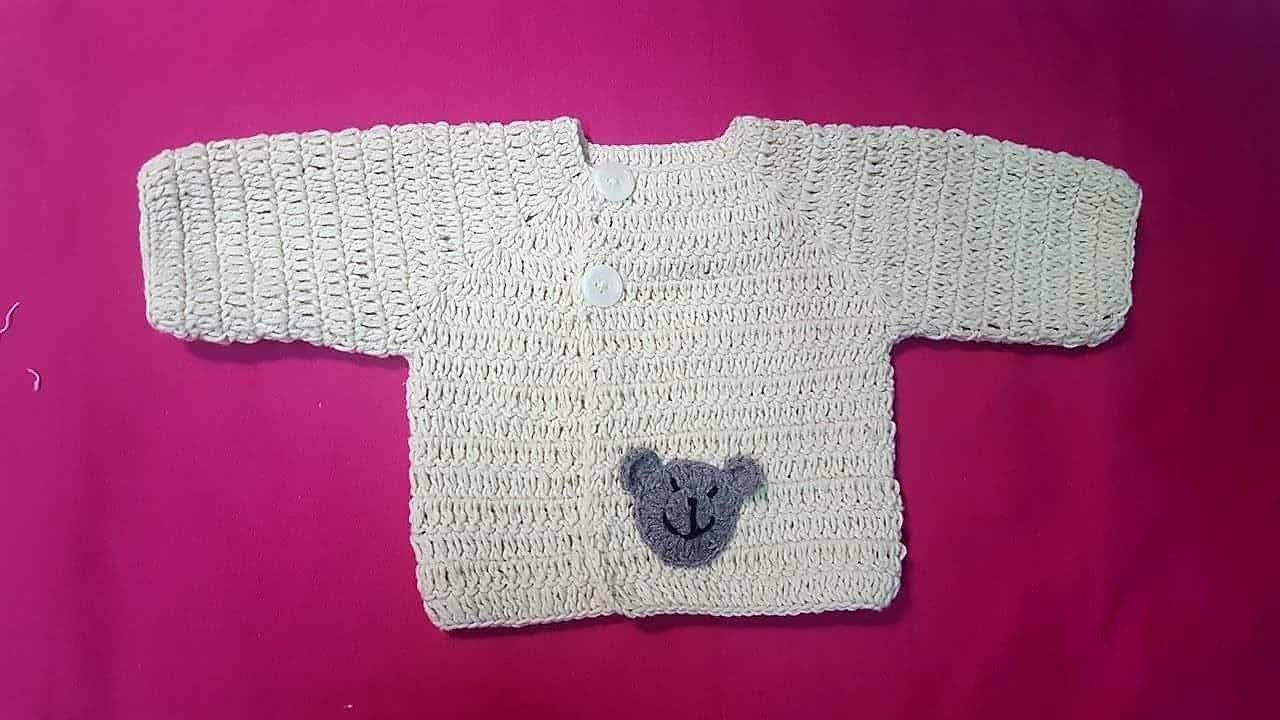 Hướng dẫn móc áo tay dài cho bé trai sơ sinh. PHẦN 1-Guide crochet baby sweater