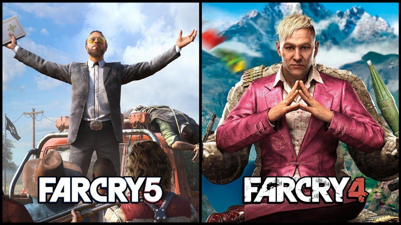 Far Cry 5 Vs Far Cry 4 Comparison Youtube