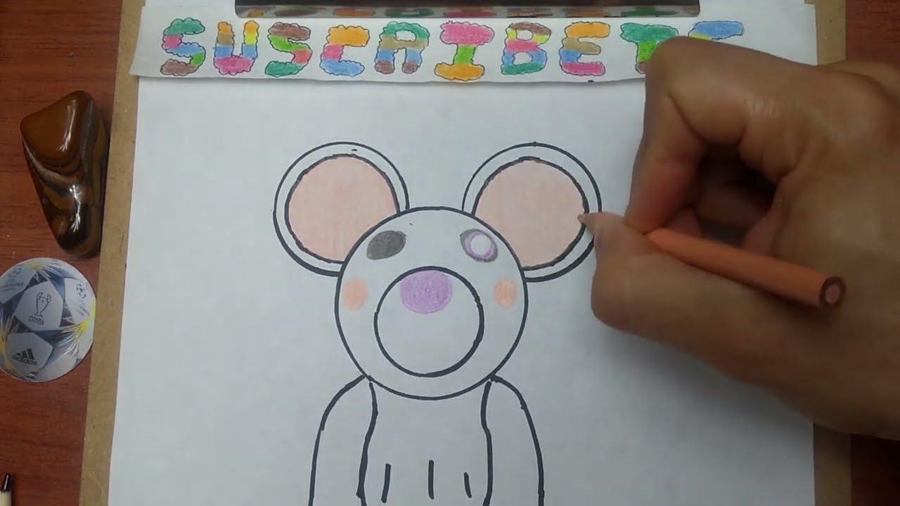 Como Dibujar Y Pintar A Mandy Mousy De Piggy Roblox How To
