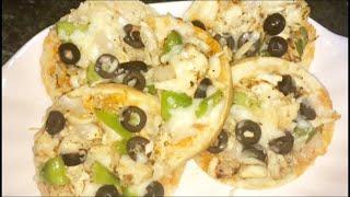 Mini Pizza From Burger buns Recipe by RJ Kitchen