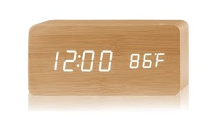 Digital Led Voice-control Wooden Clock!!!