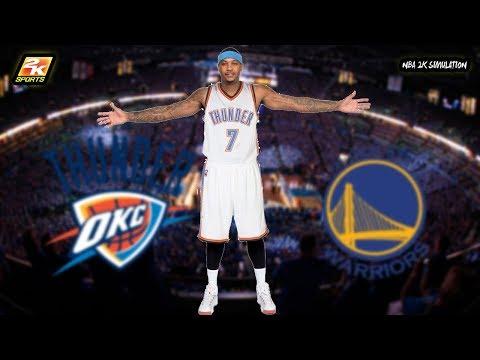 Golden State Warriors VS Oklahoma City Thunder | NBA 2K18