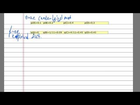 True distributions and empirical Distributions