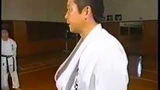 O Sensei Muneo Yoshitama, Performing : Mae Geri , Mawashi Geri and  Mawashi Manage