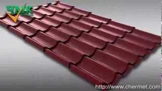 видео Размеры листа металлочерепицы и доборных элементов для крыши