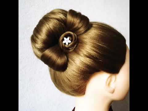 New bun hairstyle with Hairclip design || beautiful bun hairstyles || hairstyle girls 2019