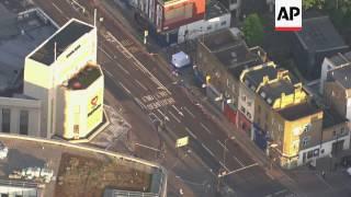 Aerials of van used in suspected terror attack
