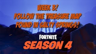 Battle Pass Week 3 Follow the Treasure Map Found in Salty Springs!