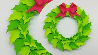 How To Make Christmas Wreath | Paper Christmas Wreath | Christmas Decorations Ideas