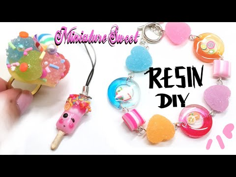 Sweets- Jewelry- 3 Easy Projects- UV Resin Tutorial- DIY