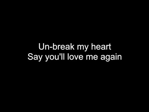 UN-BREAK MY HEART | HD with lyrics | TONI BRAXTON by Chris Landmark | ON SPOTIFY, iTunes & PANDORA