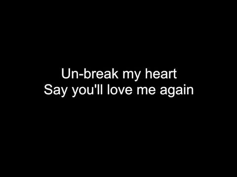 UN-BREAK MY HEART | HD with lyrics | TONI BRAXTON by Chris Landmark
