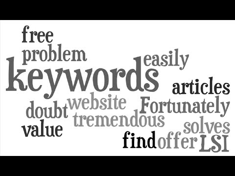 Free LSI Keyword Search Tool For Latent Semantic Indexing