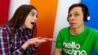 Видео для девочек - Челлендж в наушниках - игры для девочек