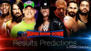 Super show down matches result prediction ! The Undertaker vs Triple H ! The Undertaker Channel !