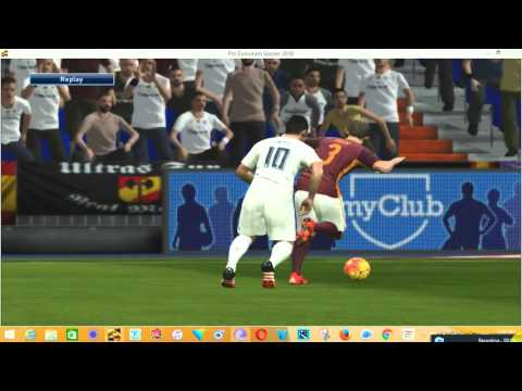 Real madrid vs Roma  tonight 08/03/2016(PES game )