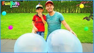 Bubble Wubble Inflatable Ball for Kids with Jason