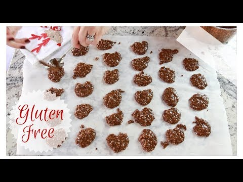 Chocolate Peanut Butter No Bake Cookies GLUTEN FREE