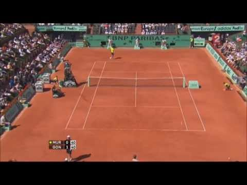 Fernando Gonzalez vs Andy Murray QF Roland Garros 2009 [HD]