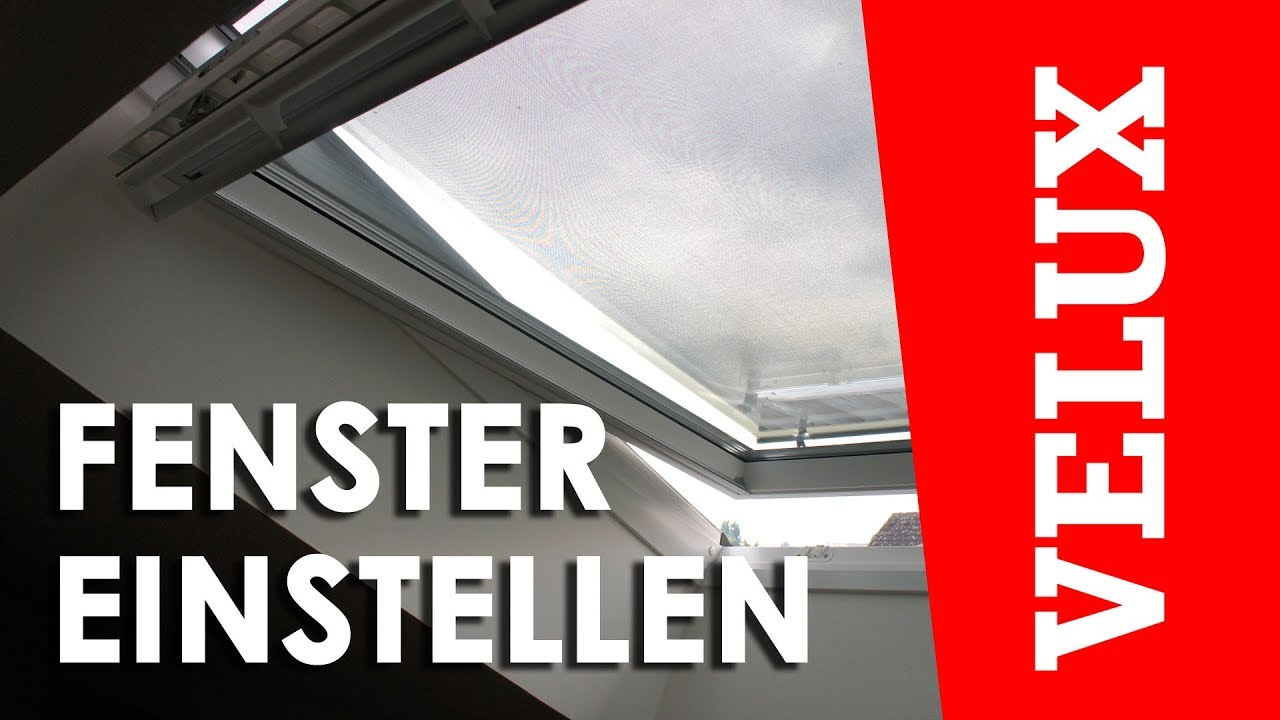 velux fenster einstellen gpu gpl youtube. Black Bedroom Furniture Sets. Home Design Ideas