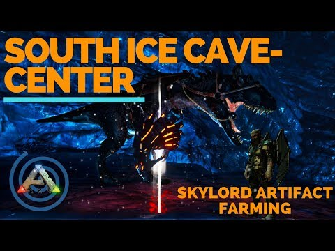 Artifact of the Skylord: Ark South Ice Cave Walk Through - Loot Crates Farming - Location and Guide