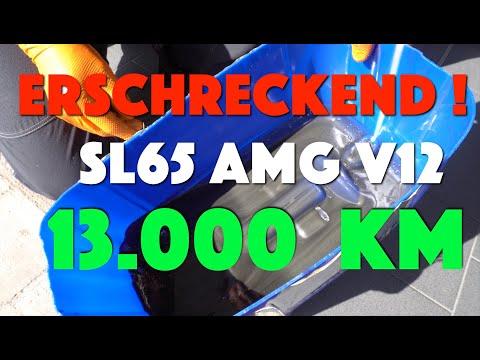 Krasser ÖL Verschleiss nach 13Tsd. KM SL 65 AMG V12 Getriebeölspülung / Öl Wechsel Biturbo