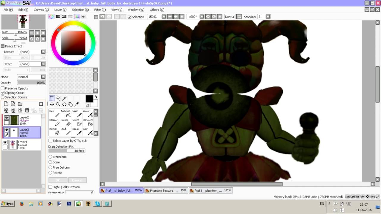 Speed Edit Making Phantom Baby From Fnaf 5 Sl Youtube