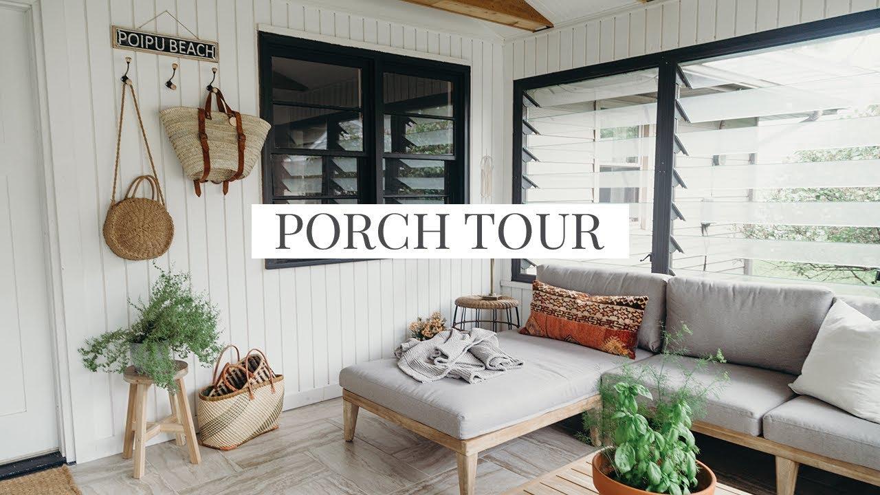 Our Porch Tour O Coastal Modern Farmhouse Style
