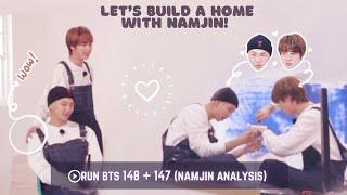 NamJin Analysis: RUN BTS 148 + Bonus 147 (NamJin building their home 🏡 ) [ENG/INDO SUB]