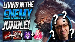 I'M LIVING IN THE ENEMY JUNGLE!!! | UDYR JUNGLE ft. SirhcEz