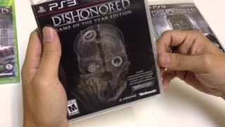 unboxing Dishonored Game of the Year GOTY Edition PS3