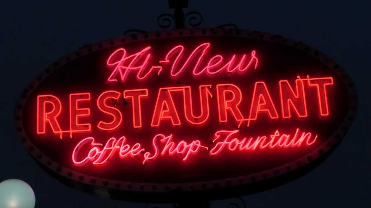 Hi View Restaurant Vintage Neon Sign