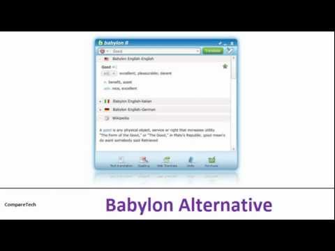 Babylon Alternative: Lingoes, Free One Click Dictionary